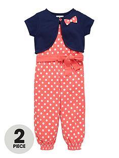 ladybird-girls-jersey-spot-jumpsuit-and-bolero-set-2-piece