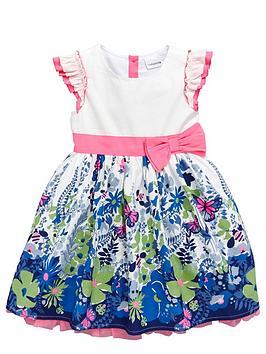 ladybird-girls-floral-border-print-dress