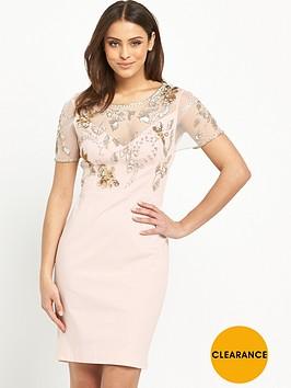 french-connection-horizon-light-short-sleeve-embellished-dress