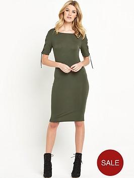 v-by-very-lace-up-sleeve-jersey-midi-dress