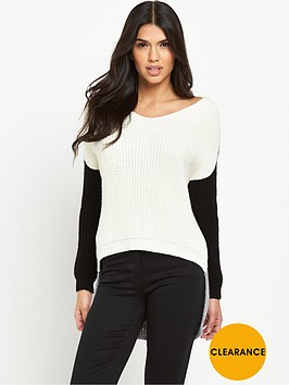 v-by-very-colour-block-rib-v-neck-jumpernbsp