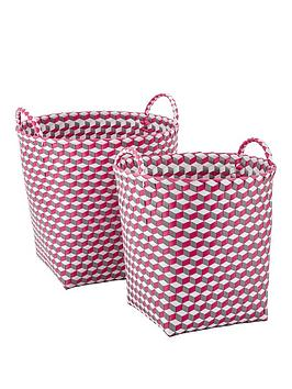 set-of-2-round-baskets-pink