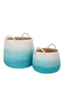 set-of-2-dip-dyed-storage-baskets-in-mint