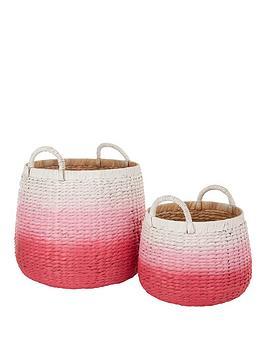 dip-dyed-storage-baskets-pink-set-of-2