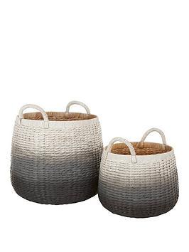 set-of-2-dip-dyed-storage-baskets-black