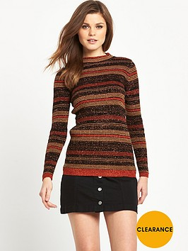 v-by-very-metallic-stripe-skinny-rib-jumper