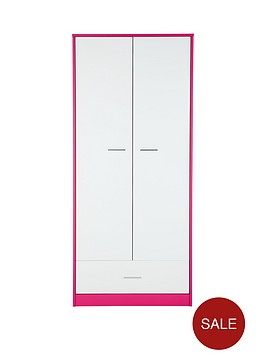 orleans-2-door-1-drawer-kids-wardrobe