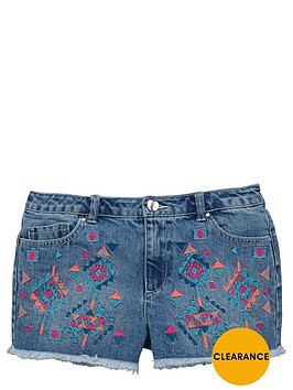 v-by-very-girls-aztec-embroidered-denim-shorts