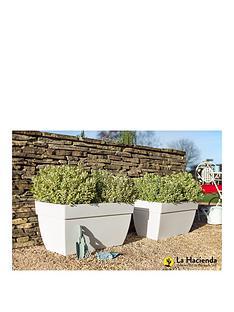 la-hacienda-set-of-2-80cmnbspartevasinbspcapri-xl-pot-white-nbspbr-br