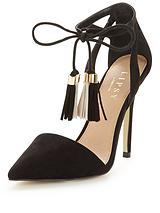 Laura Ankle Tie Court Shoe
