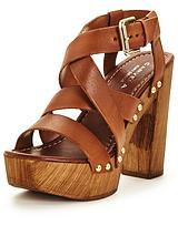 Kookie Leather Platform Sandal