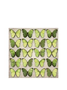 arthouse-green-metallic-foil-butterflies-canvas