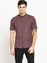 Short Sleeve Mens Check Shirt