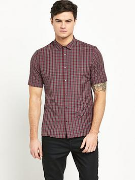 river-island-short-sleeve-mens-check-shirt