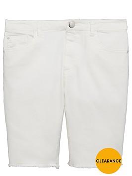 v-by-very-girls-longlinenbspwhite-denim-shorts