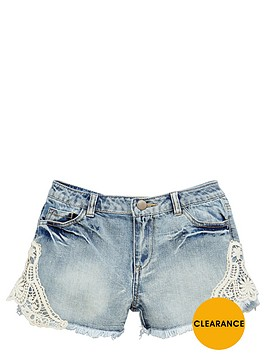 v-by-very-girls-denim-shorts-with-crochet-detail