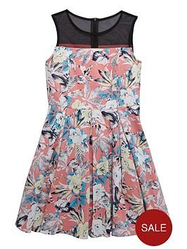 v-by-very-girls-mesh-yoke-floral-print-dressnbsp