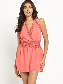 lipsy-lace-detail-beach-playsuit