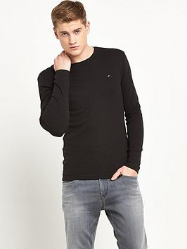 hilfiger-denim-original-long-sleeve-t-shirt-black