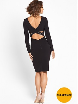 myleene-klass-double-buckle-bodycon-dress