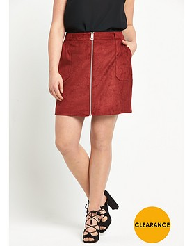 so-fabulous-suedette-zip-through-skirt