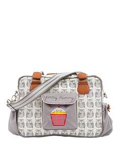 pink-lining-yummy-mummy-grey-wise-owl-changing-bag