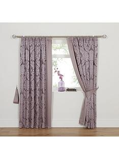 Boston Jacquard Lined Pencil Pleat Curtains