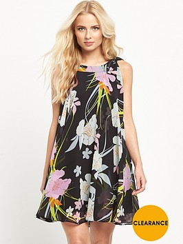 v-by-very-tie-neck-printed-dress