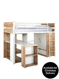 rhys-high-sleeper-bed-with-desk-wardrobe-and-shelves-optional-mattress