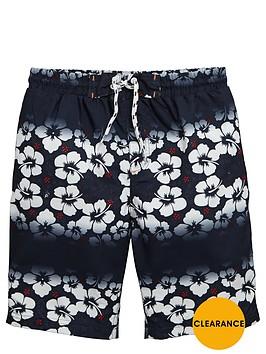 v-by-very-boys-hibiscus-stripe-swim-shorts
