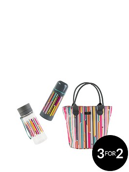 beau-elliot-linea-insulated-lunch-bag-with-vacuum-flask-amp-hydration-bottle