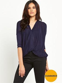ax-paris-twist-front-knit-top