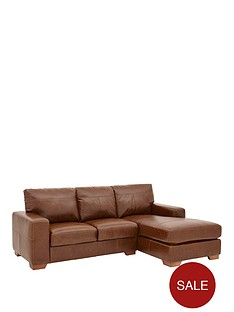 huntington-3-seater-right-hand-italian-leather-chaise-sofa