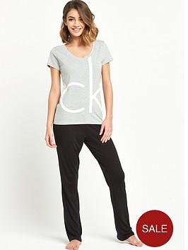 calvin-klein-grey-logo-t-shirt