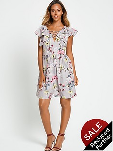rochelle-humes-ruffle-front-tea-dress
