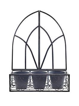 gothic-metal-wall-planter
