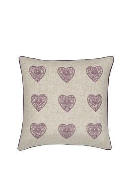 catherine-lansfield-vintage-hearts-cushion-ndash-heather