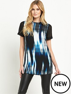 v-by-very-chiffon-sleeve-printed-tunic