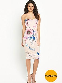 lipsy-floral-bandeau-bodycon-dress