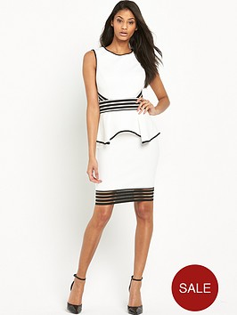 lipsy-sheer-stripe-peplumnbspdress