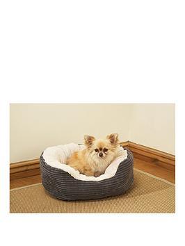 rosewood-greynbspjumbo-cord-amp-cream-plush-dog-bed