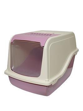 rosewood-ariel-front-opening-pet-toilet-and-scoop-cotton-candy