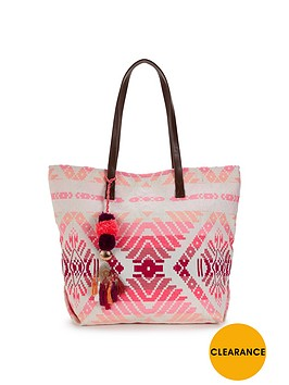 v-by-very-ikat-beach-bag