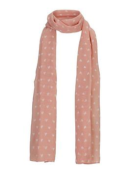 girls-heart-print-scarf