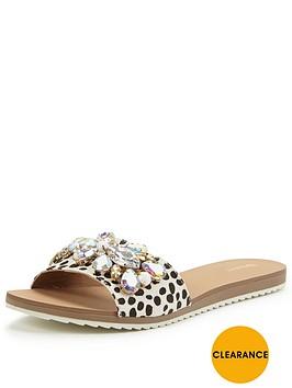 dune-kreme-pony-slide-sandal