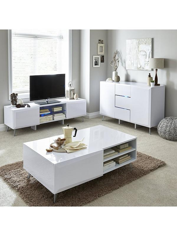 Superb Xander Tv Stand With Led Lights Fits Up To 55 Inch Tv Home Interior And Landscaping Mentranervesignezvosmurscom
