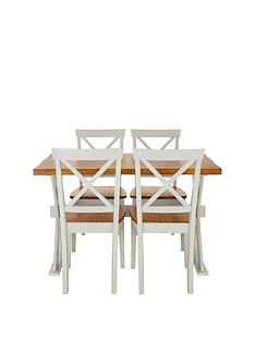axxonnbsp120-cm-dining-table-nbspnbsp4-chairs