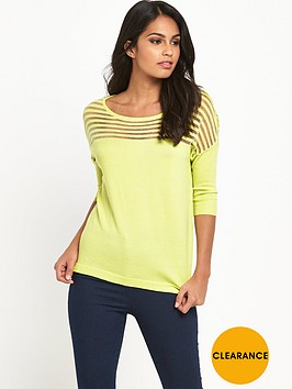 v-by-very-sheer-stripe-yoke-jumper