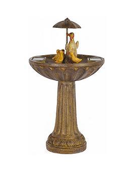 smart-garden-bronze-effect-umbrella-duck-family-fountain