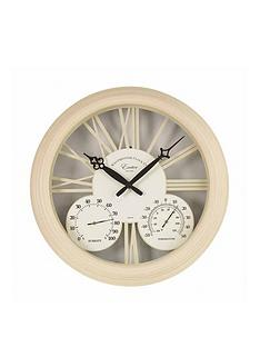 smart-solar-cream-exeter-wall-clock-amp-thermometer